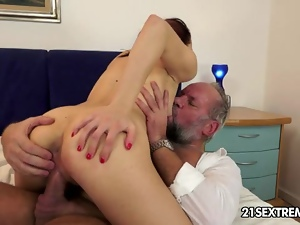Blowjob, Brunettes, Cumshots, European, Fingering, Grandpa, Hardcore, Kissing, Natural boobs, Teens