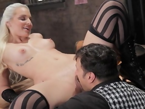 Blondes, Blowjob, Creampie, Doggystyle, Fingering, Gloves, Hardcore, Jail, Prison, Stockings