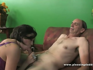 Blowjob, Brunettes, Cowgirl, Hardcore, Interracial, Latina, Old man, Small tits, Tiny tits