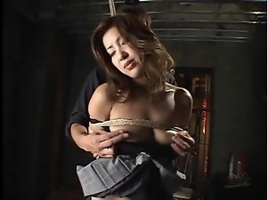 Cunt, Fingering, Japanese, Small tits, Tied up
