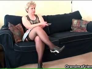 European, Masturbating, Mature, Stockings, Upskirt