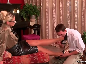 Domination, Femdom, Foot fetish, Leather, Skirt, Tight