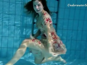 Pussy, Shaved, Small tits, Underwater, Young