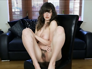 British, Brunettes, Hairy, Jerk off instruction, Model, Nude, Pov, Teens