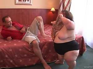 Bbw, Bedroom, Blowjob, Fat, Fucking, Midget