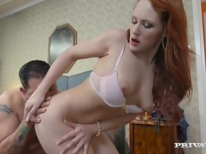 Babes, Bra, Chick, Couple, Doggystyle, Hardcore, Licking, Missionary, Natural boobs, Redheads