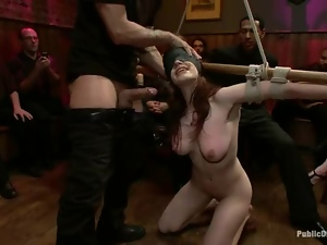 Bar, Bdsm, Beautiful, Bondage, Fucking, Humiliation, Redheads, Slave, Tied up