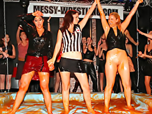 Babes, Chick, Fighting, Messy, Sexy, Wet, Wrestling