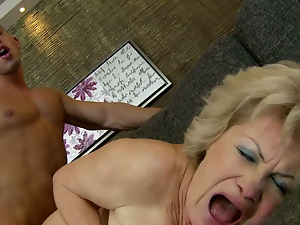 Big tits, Blowjob, Busty, Cougar, Doggystyle, Fake tits, Grandma, Granny, Hairy, Horny, Old and young