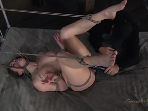 Bondage, Brunettes, Fetish, Rough, Tied up, Vibrator