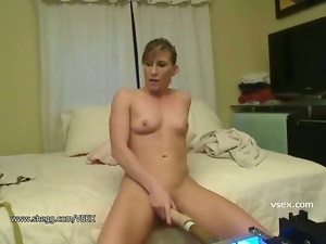 Dildo, Doggystyle, Live cam, Machine sex