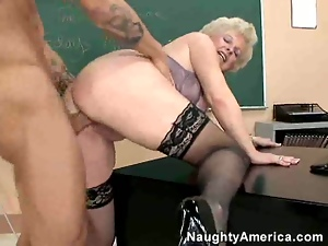 Blondes, Dick, Fucking, Lady, Mature, Young