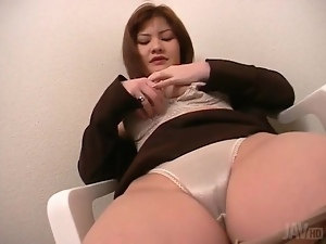 Japanese, Masturbating, Panties, Pussy, Satin