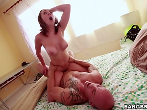 Busty, Couple, Cowgirl, Dirty, Hardcore, Natural boobs, Orgasm, Redheads