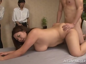 Asian, Banging, Big tits, Chubby, Hardcore, Japanese, Natural boobs, Public