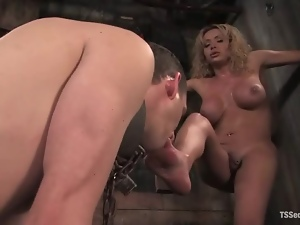 Ass, Blondes, Chained, Fucking, Kinky, Shemales, Tranny