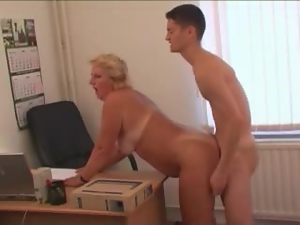 Amateur, Blondes, Chubby, Couple, Fat, Fucking, Hardcore, Mature, Mature amateur, Office, Old and young