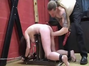 Big tits, Chained, Fisting, Sex toys, Slave