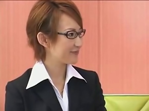 Creampie, Group sex, Japanese, Lady, Lesbian, Office