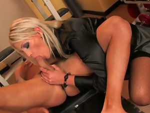 Ass, Big cock, Blondes, Blowjob, Busty, Cowgirl, Fitness, Long hair, Milf, Nylon, Pussy, Riding, Stockings