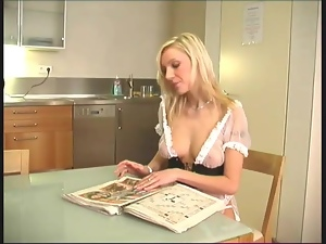 Blondes, French, Maid, Masturbating, Sexy, Stockings