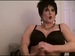 Black, Bra, Crossdressing, Gay, Masturbating