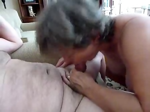 Blowjob, Grandma, Grandpa, Granny, Handjob, Sucking