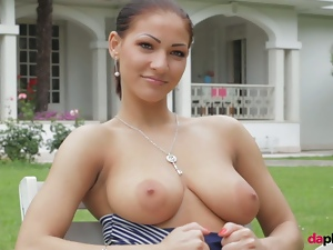 Babes, Beautiful, Big butt, Brunettes, European, Glamour, Nude, Posing, Romanian, Softcore, Solo, Strip, Tease