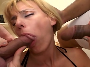 3some, Anal, Ass fucking, Bbc, Big cock, Big natural tits, Big tits, Busty, Interracial, Milf, Mmf, Mom, Stockings, Threesome
