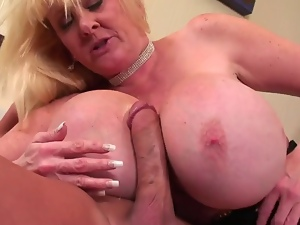 Big tits, Blondes, Blowjob, Butt, Cumshots, Huge, Mature, Tits