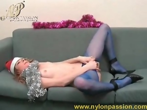 Beautiful, Masturbating, Pantyhose, Pussy, Teens, Xmas