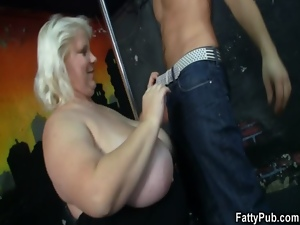 Bar, Bbw, Blondes, Chubby, Chunky, Fat, Fucking, Group sex, Huge, Huge tits, Party, Plumper, Strip, Tits